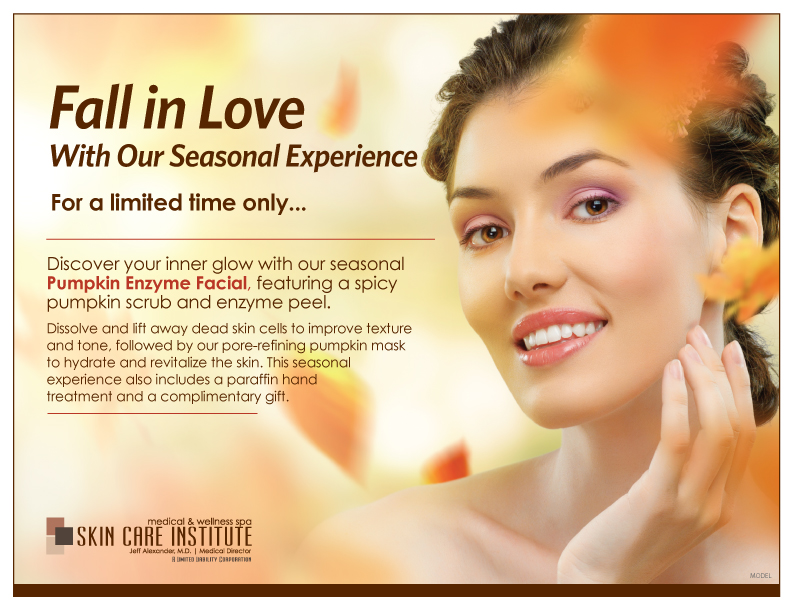 Check out our Limited Edition Pumpkin Enzyme Facial, Only at the Skin Care Institute!