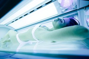 Tanning beds are unhealthy for everyone, not just younger folk.