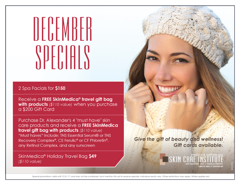 Check out Skin Care Institute's December Specials!