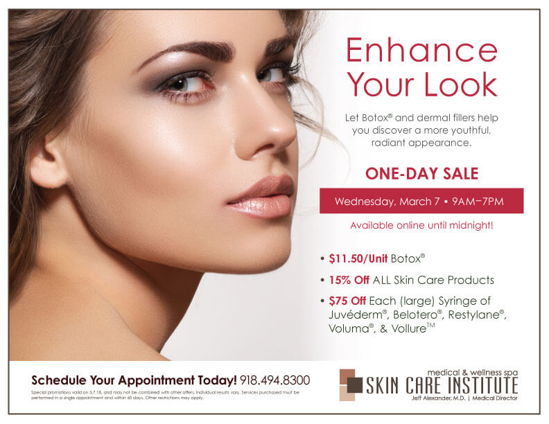 Join us on March 7th for Skin Care Institute's Injectable Day in Tulsa, OK