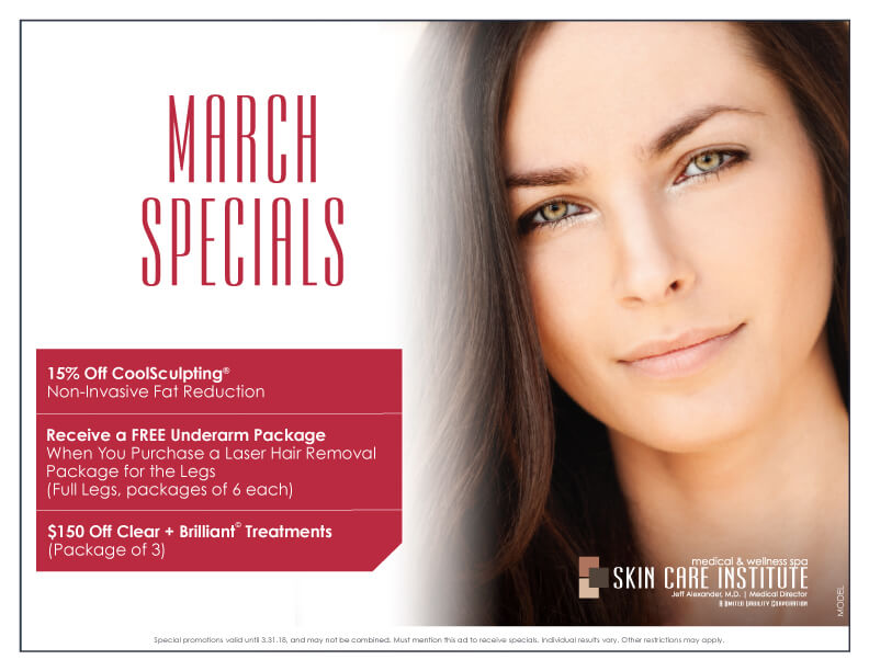 Check out Skin Care Institute's February Specials!