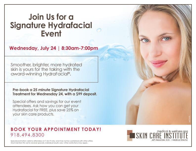 Hyrdafacial MD Event July 2019 at Skin Care Institute in Tulsa, OK
